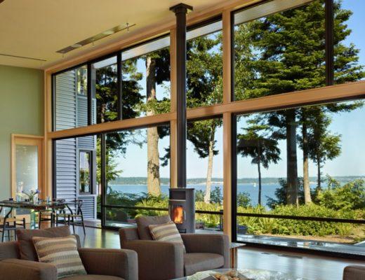 панорамные окна из дерева
