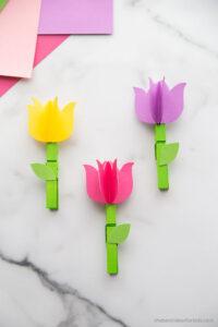 поделка тюльпаны из бумаги