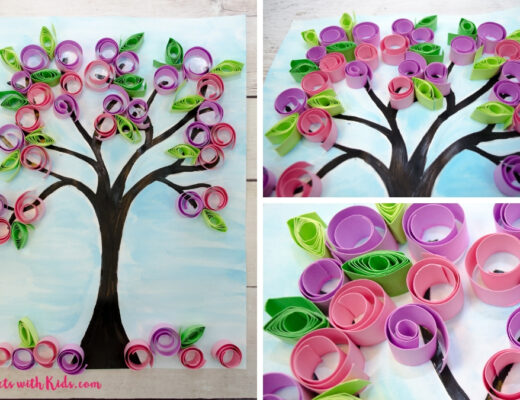 весеннее дерево в технике квиллинг