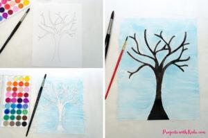 поделка из бумаги цветущее дерево