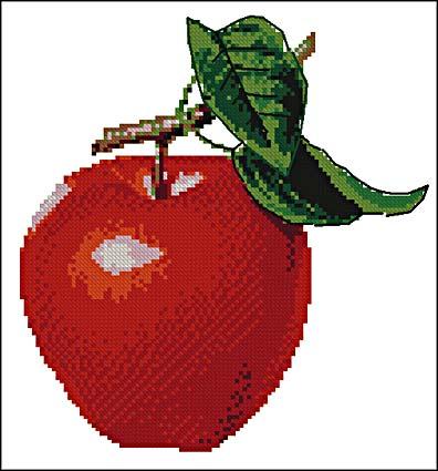 Схемы вышивки крестом - яблоко
