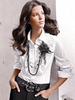 Стильные блузки белые для офиса купить