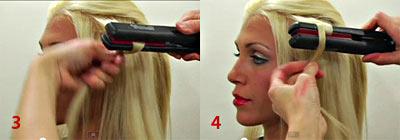 Фото как правильно накрутить волосы на утюжок