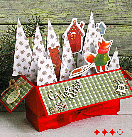 Новогодний скрап открытки коробочки