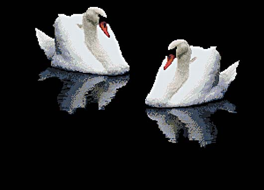 Схема вышивки - Лебеди