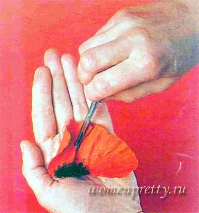 выкройки цветов из ткани
