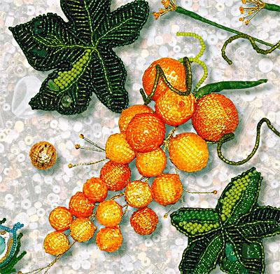 Оплетение бусин и кабошонов бисером