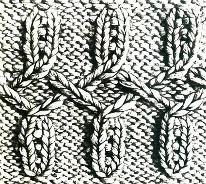 Вяжем спицами - затейливый узор.