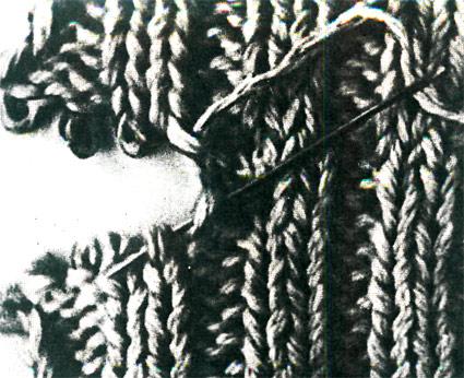 Сшить открытые петли резинки