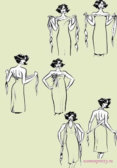Как из куска ткани быстро сделать платье
