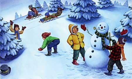 Зимние игры для малышей