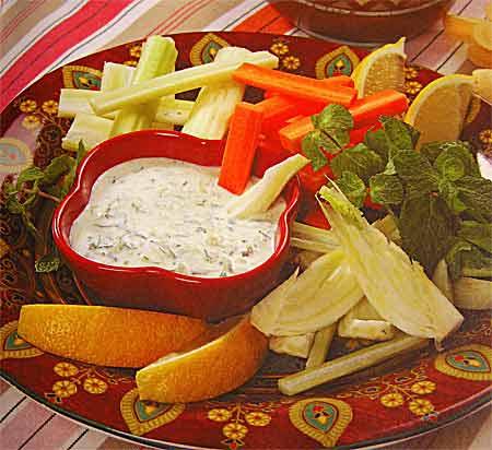 Дип из баклажанов со специями и йогуртом – кулинарный рецепт