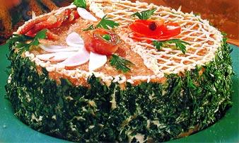 Бутербродные пирожные с селедочным кремом – кулинарный рецепт
