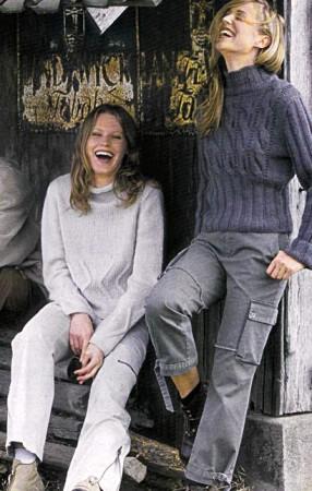Пуловер с закручивающимся воротником