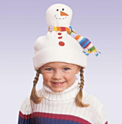 Шапка-снеговик