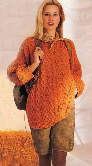 Пуловер с ирландскими узорами