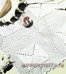 Вязаная крючком салфетка