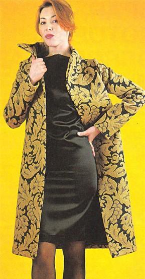 Пальто из гобеленовой ткани