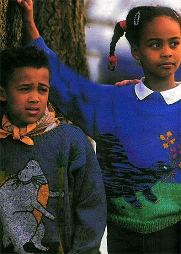 Пуловер с динозаврами
