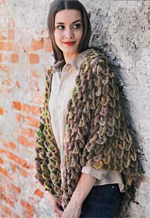 Модный шарф-платок связанный крючком