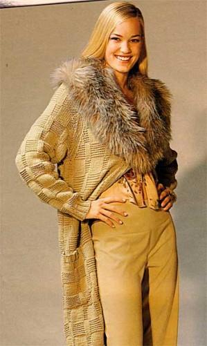 Вяжем женское пальто