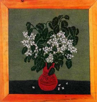 вязаное панно
