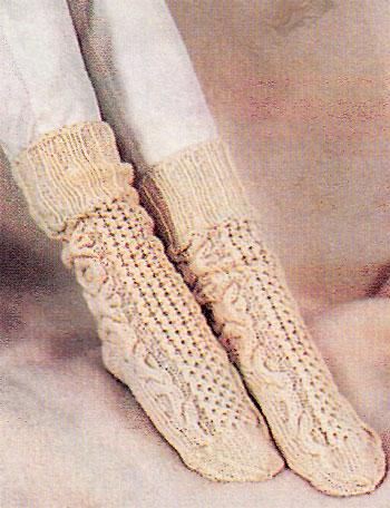 Носки из неотбеленной шерсти