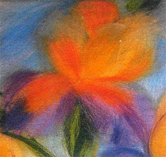 Ирисы. Цветы из шерсти. Сухое валяние ...: liveinternet.ru/users/taniquek/post367737422