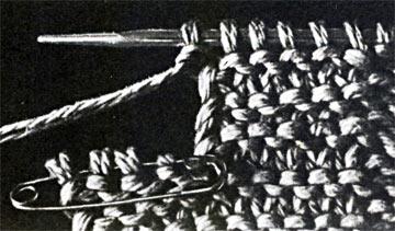 Вязание петель для пуговиц